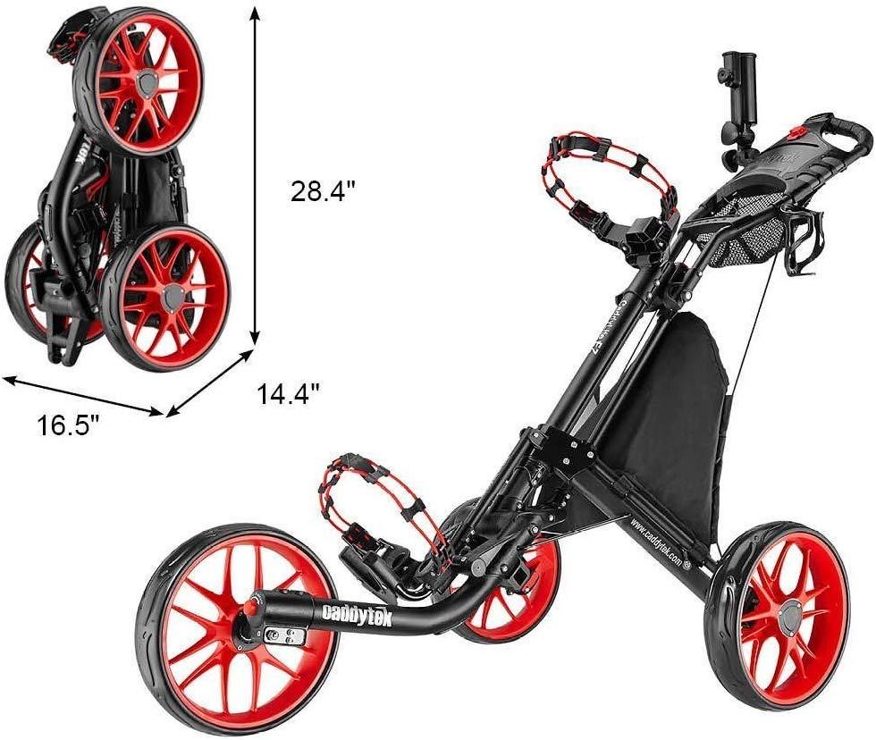 Chariot de golf EZ-Fold de CaddyTek - 3 roues