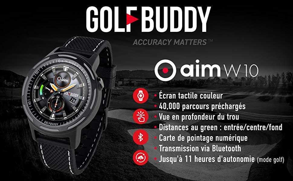 Montre de golf GolfBuddy W10 Télémètre image_1